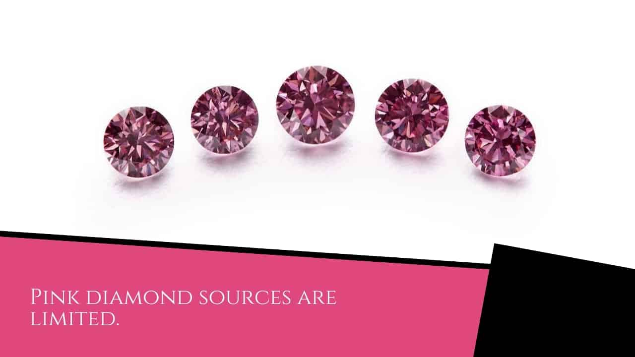 Pink diamond sources are limited.