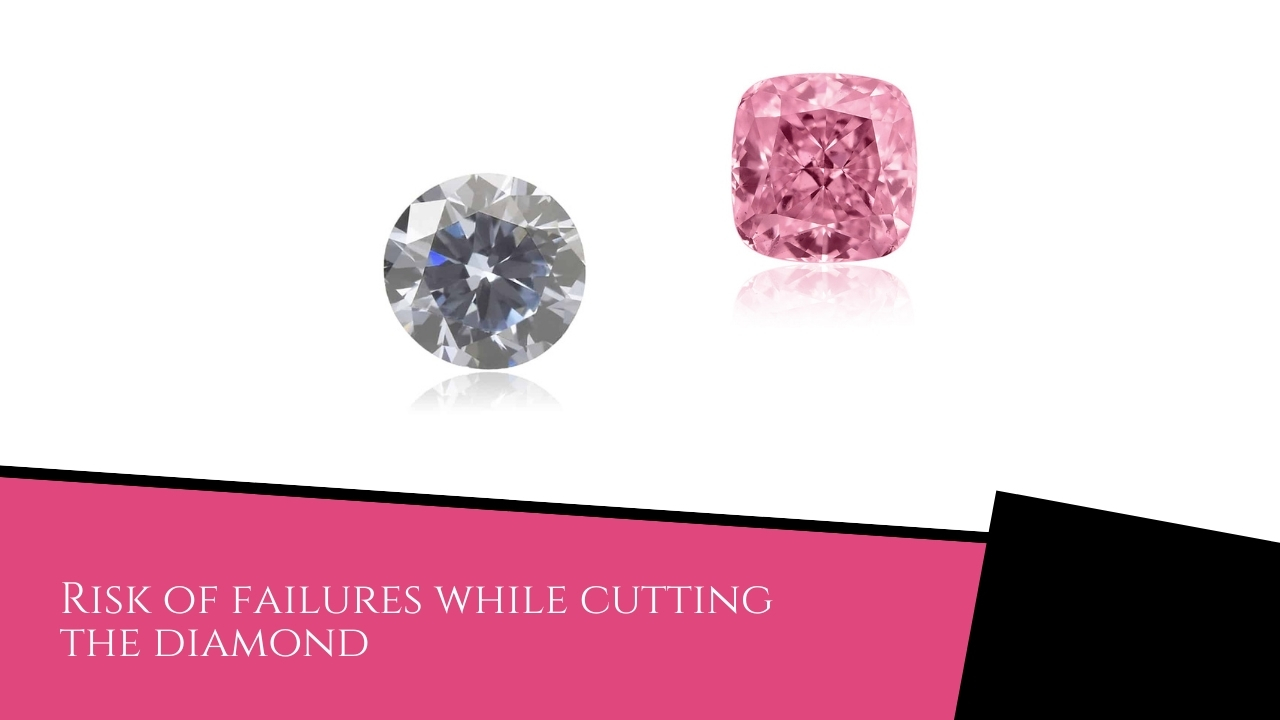 Risk of failures while cutting the diamond