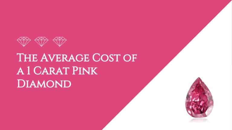 The Average Cost of a 1 Carat Pink Diamond