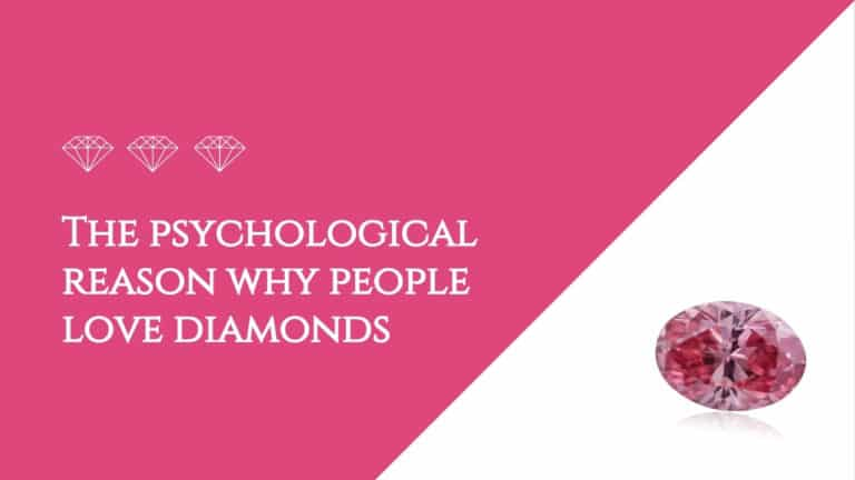 The psychological reason why people love diamonds