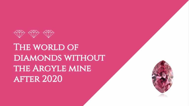 The world of diamonds without the Argyle mine after 2020