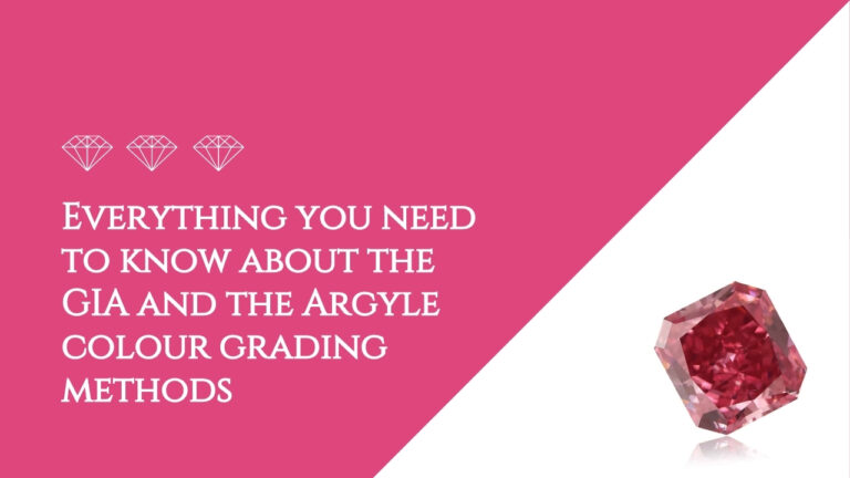 Everything you need to know about the GIA and the Argyle colour grading methods